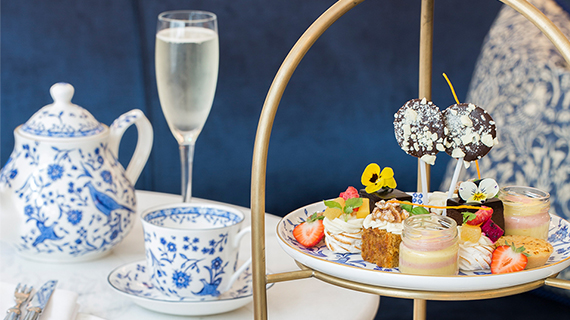 Prosecco with afternoon tea