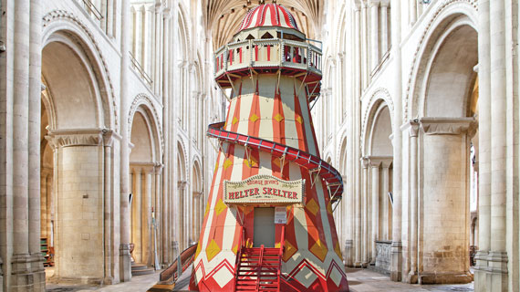 Slide down a helter-skelter in a cathedral this summer
