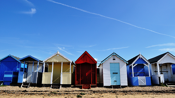 Beach huts in Southend
