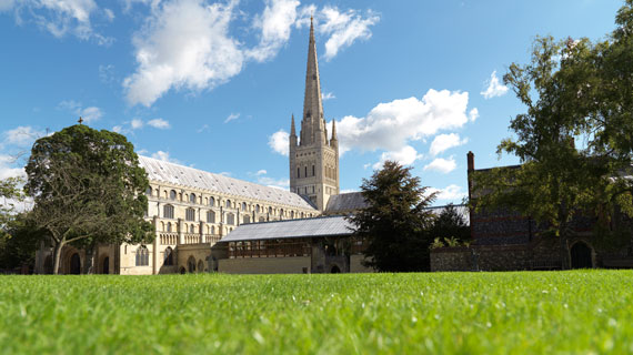 Norwich is one of the finest examples of a Romanesque cathedral in Europe