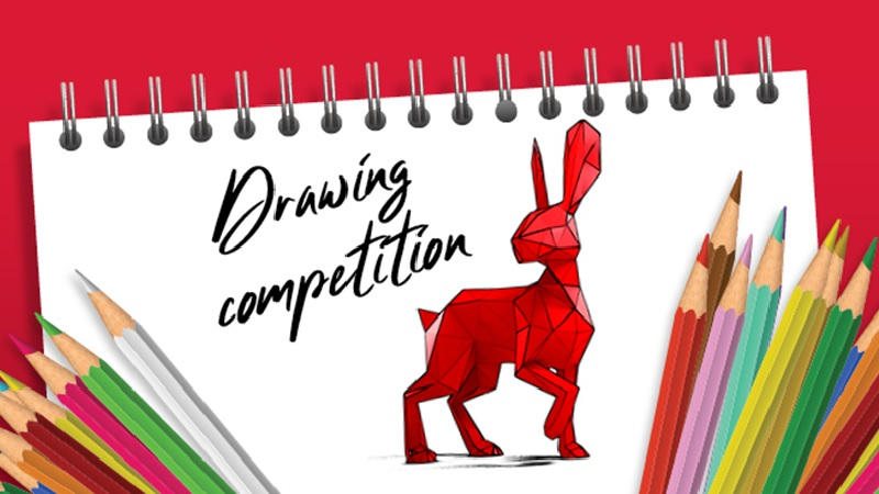 Drawing competition homepage banner