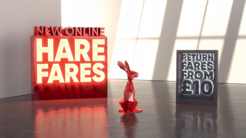 Hare Fares homepage banner